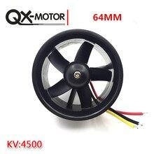 QX- 모터 64mm EDF 5 블레이드 덕트 형 팬 + QF2611 RC 에어 플레인 용 4500KV 무 브러시 모터