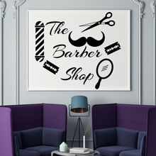 Wall Decal Haircut Barber Shop Sticker Shave Hairdresser Window Art Mural Remobable Vinyl Wallpaper AY906