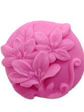 Silicone soap mould flower mold DIY manual making silicone