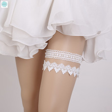 Legs Ring Wedding Hand-made  Bride Garter Rhinestone White Embroidery Floral Sexy Garters Wedding Accessories Bride Decoration czy black sexy bride lace socks of wedding garter thigh ring czy party embroidery flower beading black sexy garters for bride