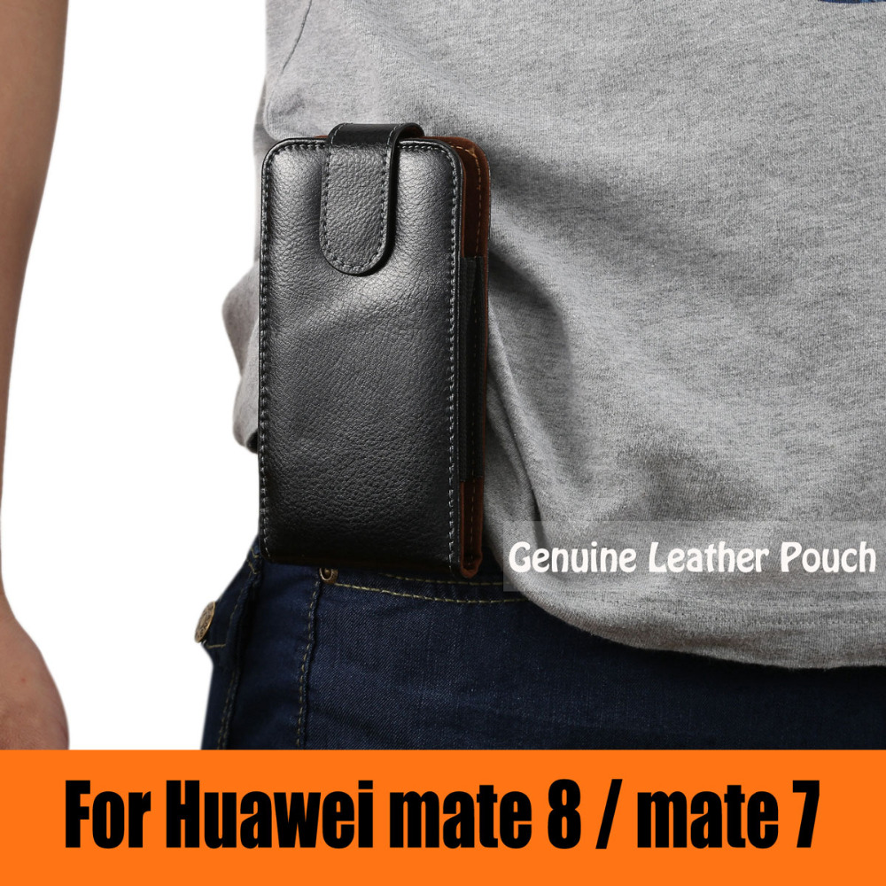 360 Degree Rotation Leather Vertical Case Holster Loop Magnetic Pouch Belt Clip Cover For Huawei mate
