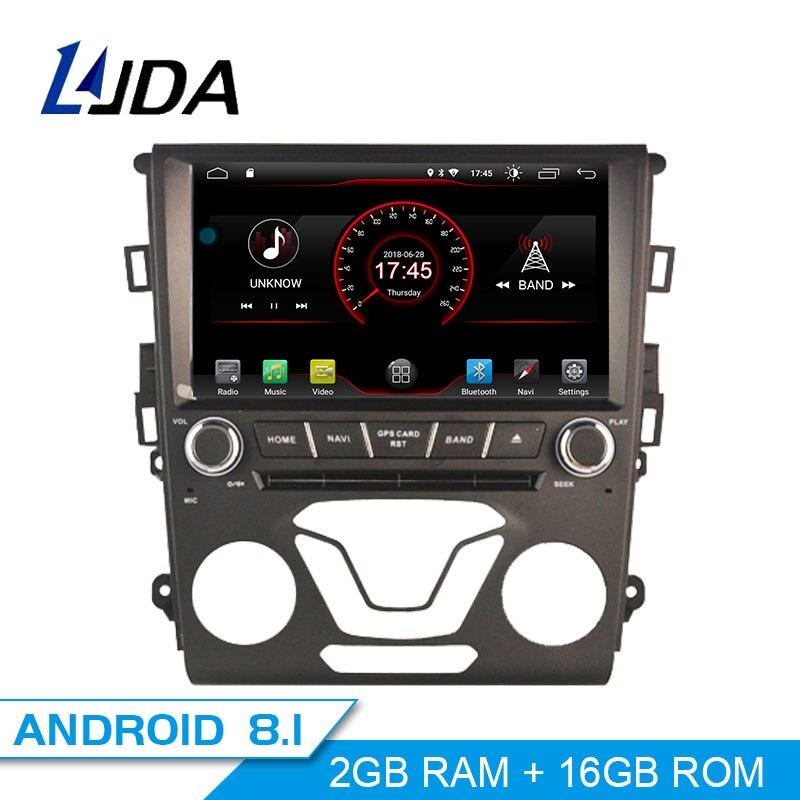 LJDA Android 8.1 Lecteur DVD de Voiture Pour Ford Mondeo Fusion 2013 2014 GPS Navigation 1 Din Voiture Radio Multimédia WIFI stéréo Headunit