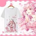 Nueva vocaloid Hatsune Miku Linda chica Camiseta Anime Japonés Famoso Verano de Los Hombres Camiseta del traje de Cosplay