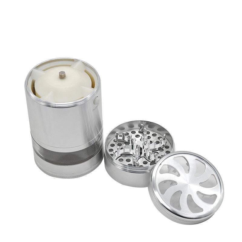 8 PCS/LOT diamètre 75 MM broyeur d'herbe électrique aluminium tabac broyeur broyeur de fumée broyeur d'épices