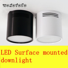2018 5W 7W 12W 18W lamp Surface Mounted  SMD5730 Ceiling Spot light Ceiling Downlight COB  AC85-265V Led downlights +led driver newest 7w super bright spot light 180 degree rotation ceiling lamp led spot down light ac85 265v led downlights surface mounted