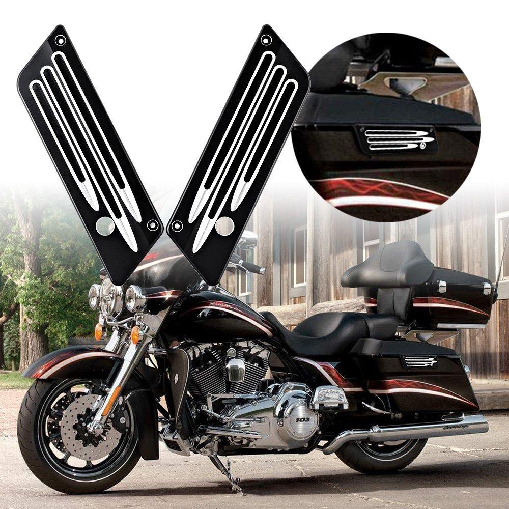 Bord Couper Billette Sacoche Verrou De Couverture Harley Touring Dur Sacs 1993-2013 Pièces