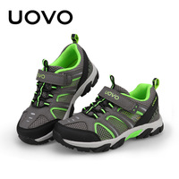 UOVO Brand Kids Running Shoes For Boys 2019 New Breathable Sports Shoes Mesh Children Sneakers Light weight Footwear Size #29 37