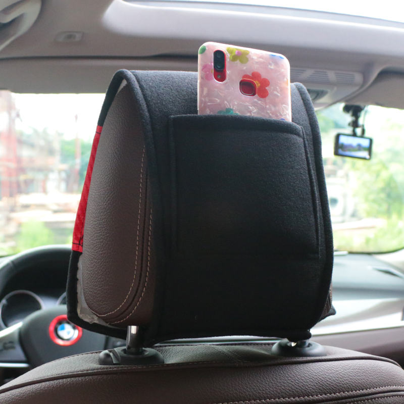 Image 3 - NEW Car headrest cover with Phone Pocket fit for Opel Astra H G J Insignia Mokka Zafira Corsa Vectra C D Antara Car styling-in Car Tax Disc Holders from Automobiles & Motorcycles