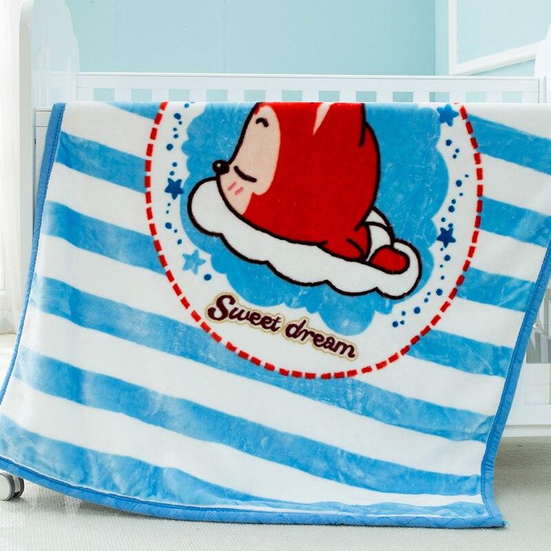 Couverture bébé Super épaissir Double couche corail polaire infantile Swaddle enveloppe poussette Wrap pour nouveau-né bébé literie couvertures