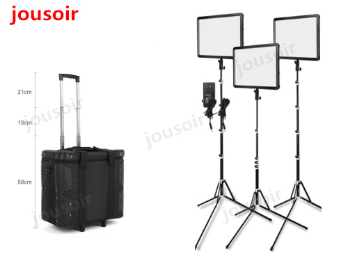 Godox LED Kit Luce 3x LEDP-260C 3300-5600 K Luce Video + Luce Del Basamento + Rullo di Borsa per il Video luci di Studio CD50Godox LED Kit Luce 3x LEDP-260C 3300-5600 K Luce Video + Luce Del Basamento + Rullo di Borsa per il Video luci di Studio CD50