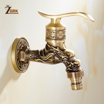 ZGRK Bathroom Faucet Brass Tap Kitchen Outdoor Garden Taps High Quality Washing Machine Mop Luxury Antique Decorative Bibcock bibcock faucet for outdoor garden brass antique bronze washing machine faucet wall mounted bathroom tap toilet cold bibcock