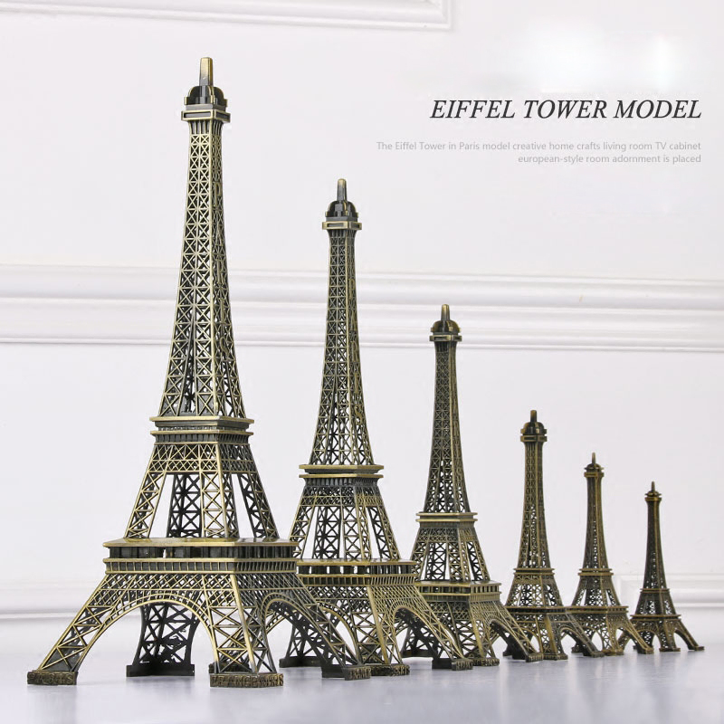 Tower Decor, Metal Paris Tower Statue Figurine Replica Drawing Room Table Decor Jewelry Stand Holder for Cake Topper,Gifts,Party