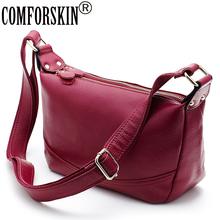 COMFORSKIN New Arrivals Luxurious Genuine Leather Soft Womens Messenger Bag Brand Fashion Style Large Capacity Handbags 2018