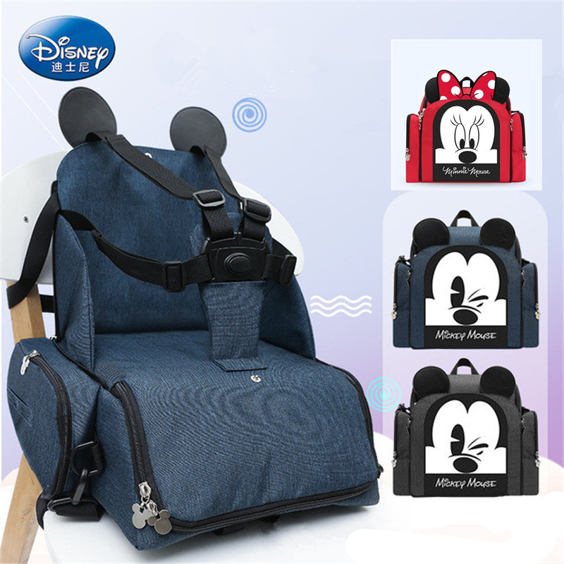 Disney Minnie Mickey Chair Backpack Multifunction Large Capacity Baby Diaper Bag Travel Mummy Bag New Stlye Waterproof-in Diaper Bags from Mother & Kids    1