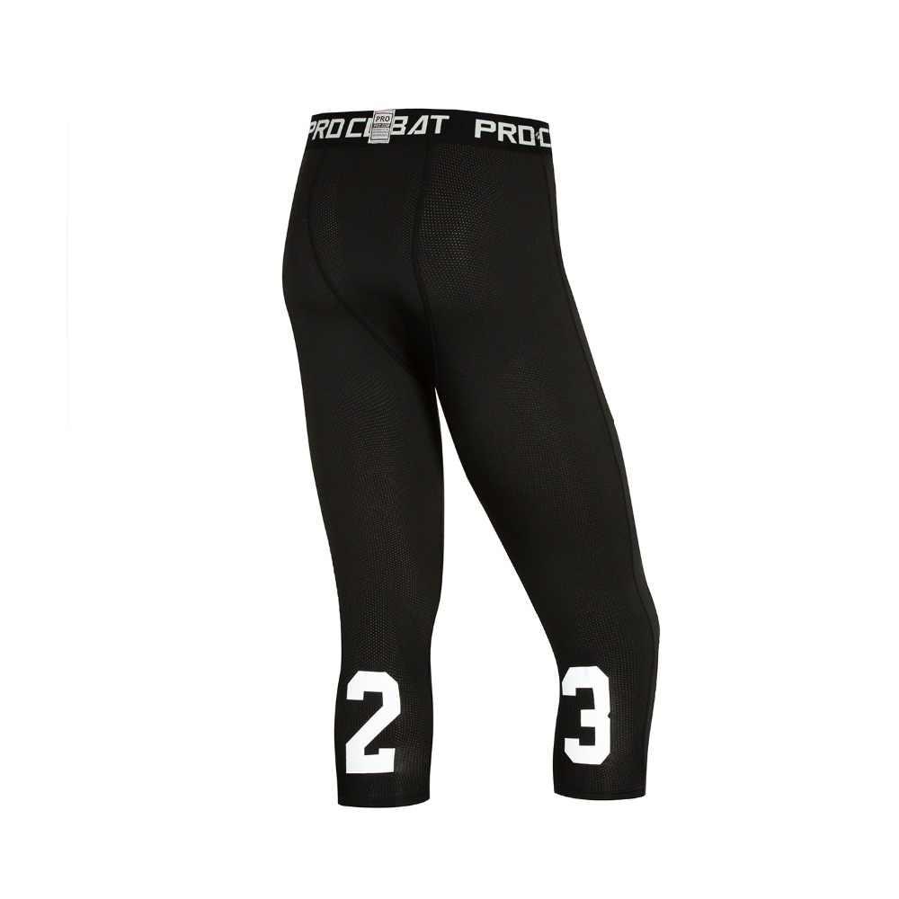 Компрессионные баскетбольные обтягивающие штаны новинка 2019 летние портовые колготки брюки эластичные быстросохнущие мужские фитнес-Леггинсы для бега плюс размер
