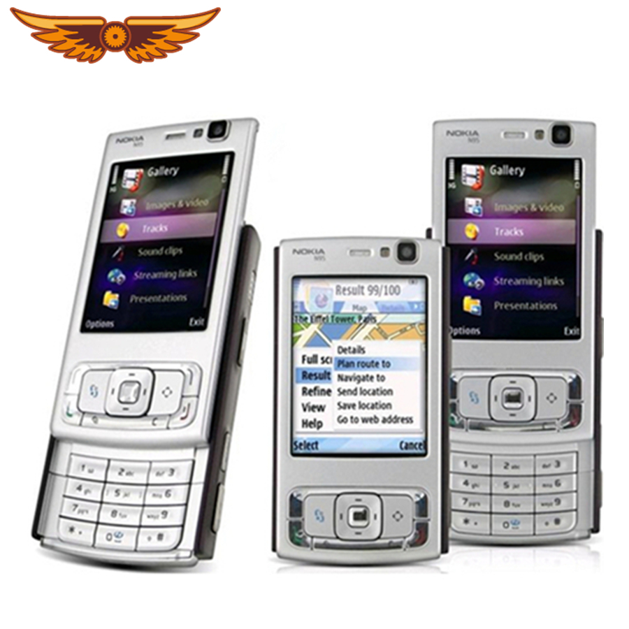 Original Nokia N95 Unlocked Mobile Phone 5MP Camera 2.6 inch TFT Screen  WiFi GPS with Russian