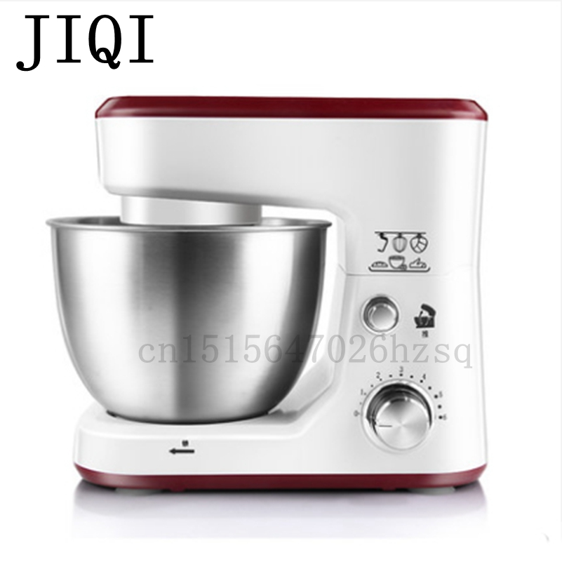 JIQI Electric household Stand Mixers cake dough bread mixer machine 600W Food mixer km 8 electric 6l chef home kitchen cooking stand cake food egg machine pasta mixer bread 220v 50 hz 1200 w food mixers
