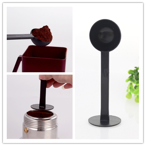 2 In 1 10g Measure Spoon Tamping Coffee Tamper Black Express Stand Coffee Tea Utensils Measuring Spoons Kitchen Tool accessories