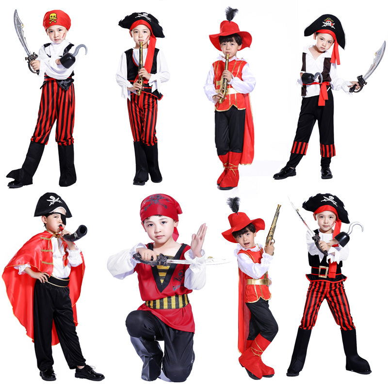 N AliExpress new boys pirate captain Halloween costume masquerade costume performance clothing Children's costumes