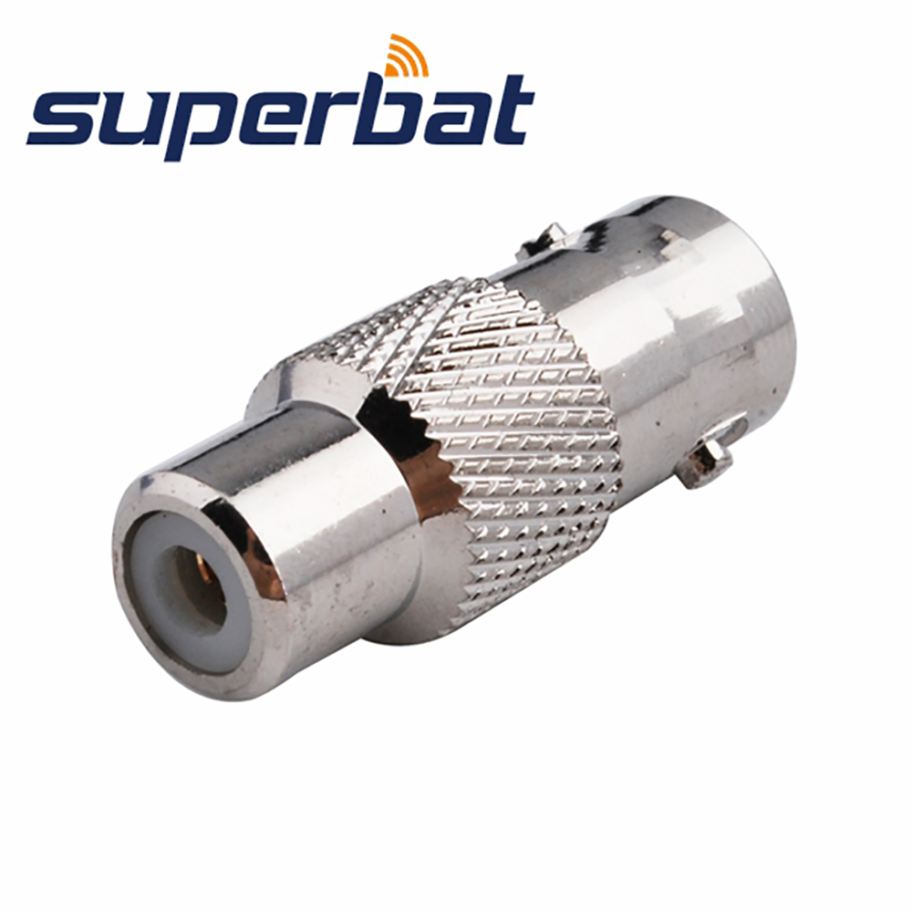 Superbat BNC-RCA Adapter BNC Jack to RCA Female Straight RF Coaxial Connector