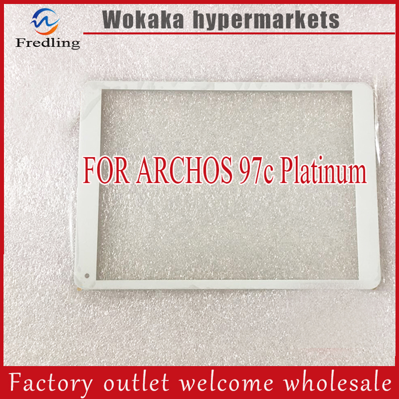 New For 9.7 ARCHOS 97c Platinum Tablet touch screen panel Digitizer Glass Sensor replacement Free Shipping 1set front chrome housing clear lens driving bumper fog light lamp grille cover switch line kit for 2007 2009 toyota camry