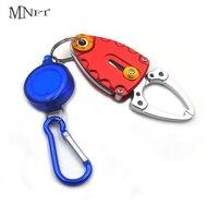 Mnft mini conjunto de pesca portátil  prendedor para lábio de peixe com zíper  ferramentas de pesca clip