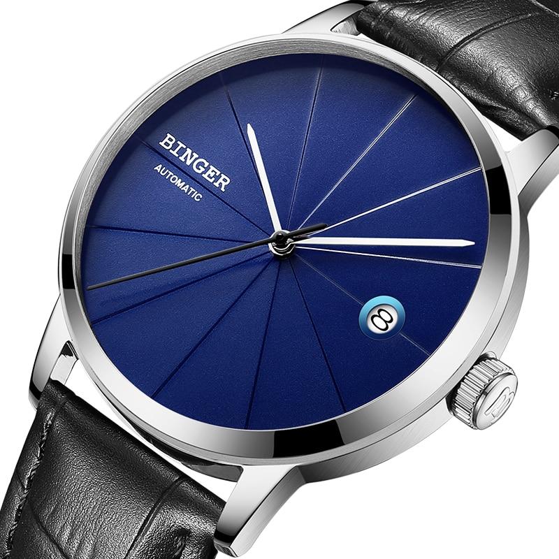 2017 BINGER Mens font b Watches b font Luxury Brand automatic mechanical Men font b Watch