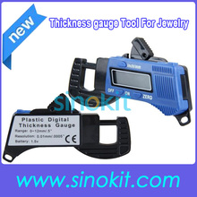 0-12.7/mm Plastic Digital Thickness Gauge Meter Tester Measuring Tool  for Jewelry STDJT-1202T