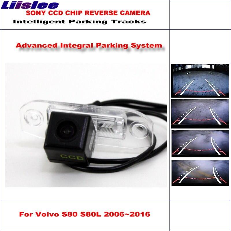 Liislee caméra arrière de voiture pour Volvo S80 S80L 2007 ~ 2016 voies de stationnement intelligentes caméra de recul/guidage dynamique