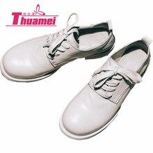 Для женщин Модная обувь на плоской подошве Для женщин на платформе; Туфли-оксфорды с перфорацией типа «броги»; туфли из лакированной кожи на плоской подошве женская обувь Весна, лето, осень# Y0727920F