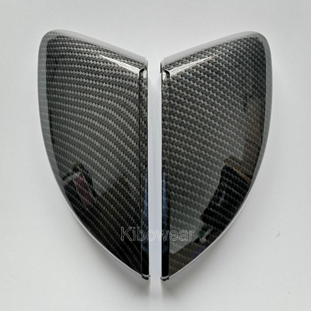 Pair for Audi A3 S3 8V RS3 Side Wing Mirror Covers Caps (Carbon Look) 2017 Replace 2015 2016 2018 2013 2014 2019
