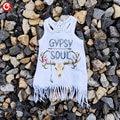 2017 Baby Girls Vest Dress Withn Tassel Sleeveless Infantil Girl Deer GYPSY SOUL Letter Printed Casual Dresses Kids Party Dress