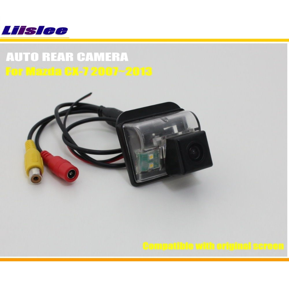 Liislee Car Rear View Camera Back Up Reverse Camera Set For Mazda CX 7 CX7 CX 7 2007 2013 RCA Original Screen Compatible in Vehicle Camera from Automobiles Motorcycles