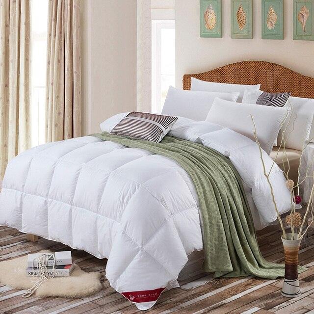 Reine Weiße Baumwolle Brot Ente Unten Seide Quilt Bettdecke Für