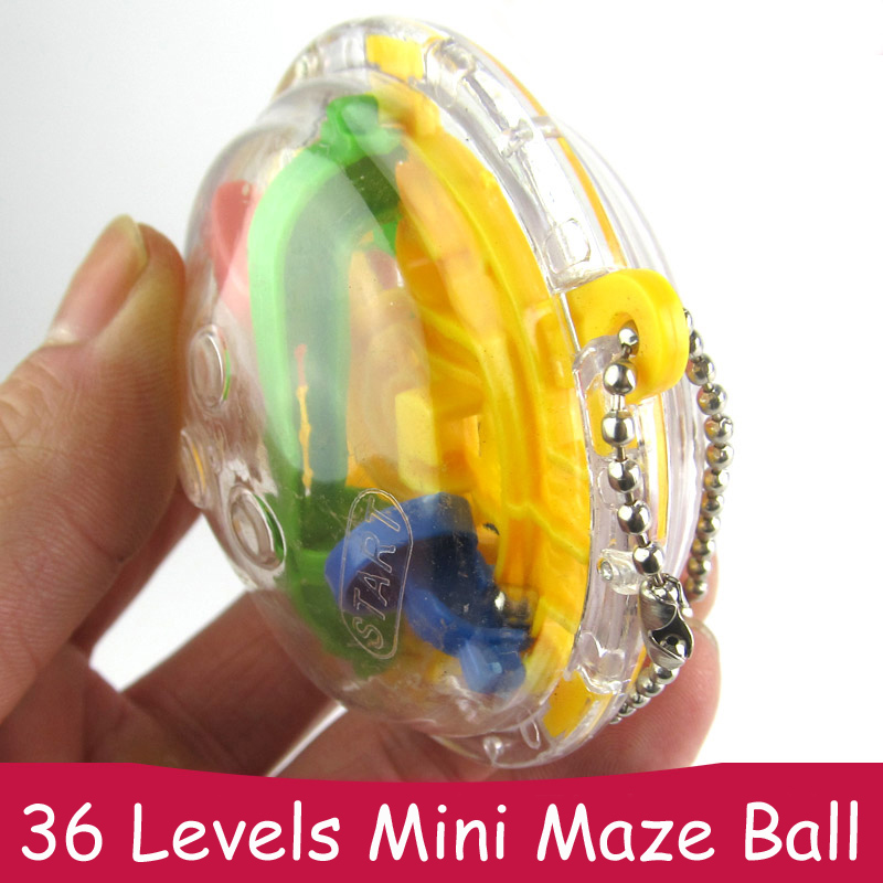 36 niveaux Labyrinthe Puzzle Ball Labyrinthe Jouets Porte-clés Portable Antistress Jouet Doigt Puzzles pour enfants et enfants Nouveauté Cains Clés