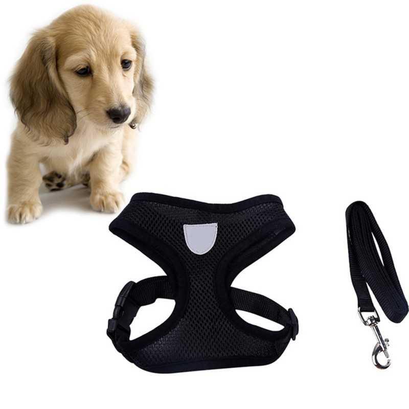 Breathable Dog Pet Leash Harness và Set Puppy Cát Vest Khai Thác Cổ Áo Cho Chihuahua Pug Bulldog Mèo arnes perro drop shipping vận chuyển