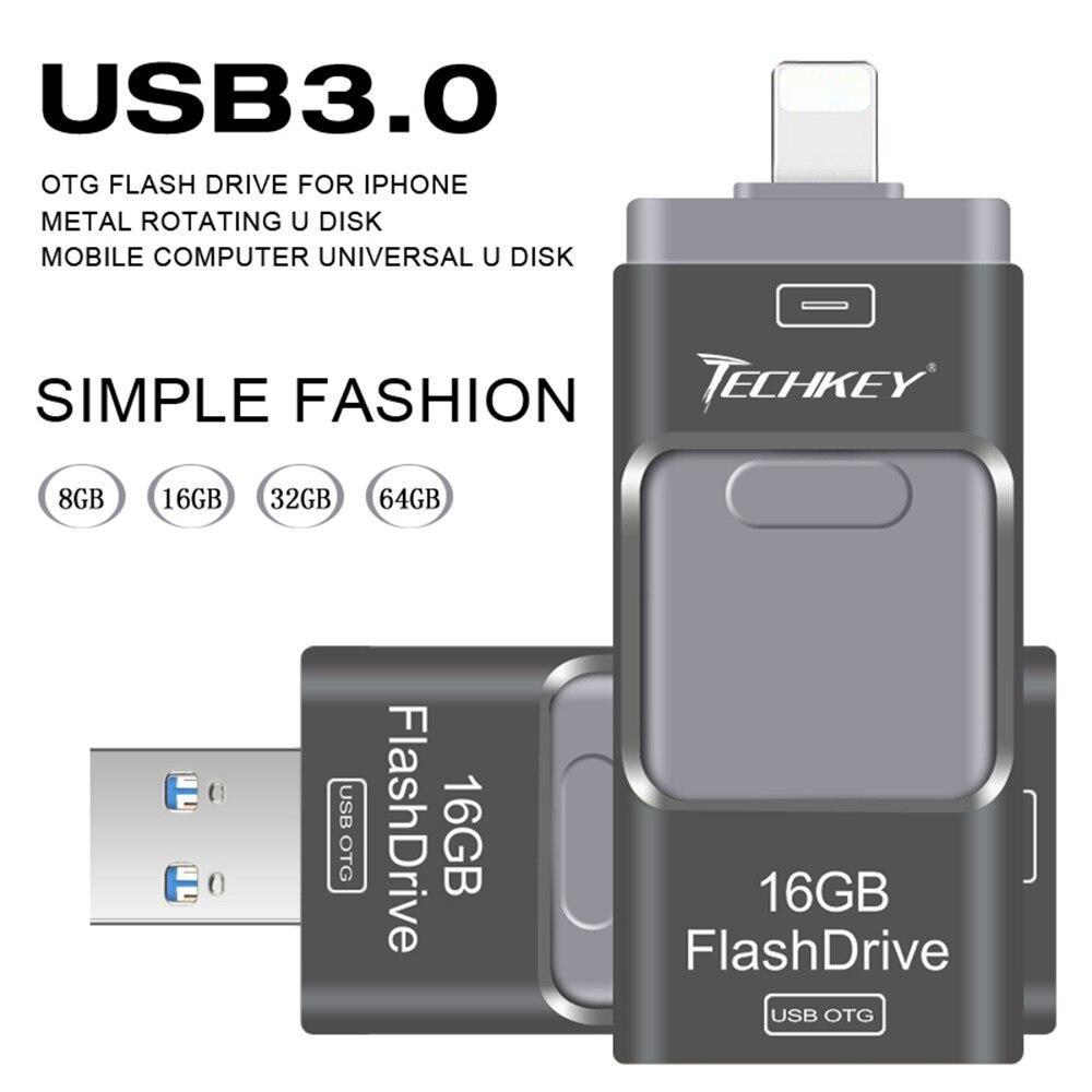 Richwell Usb Flash Drive For Iphone 8 7 7plus 6 6s Plus 5 5s Ipad Flashdisk 16gb Disk Toshiba New Otg 30 Mini Pen 8gb