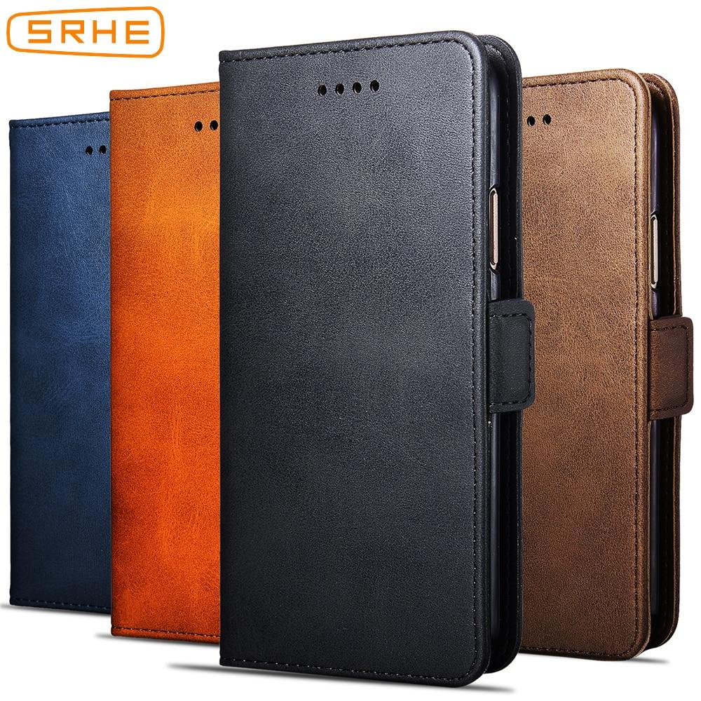 SRHE For Lenovo Z6 Pro Lenovo Z6 Lite Cover Case Business Flip Leather For Lenovo Case Z6 Pro Z6 Lite with Magnetic Support