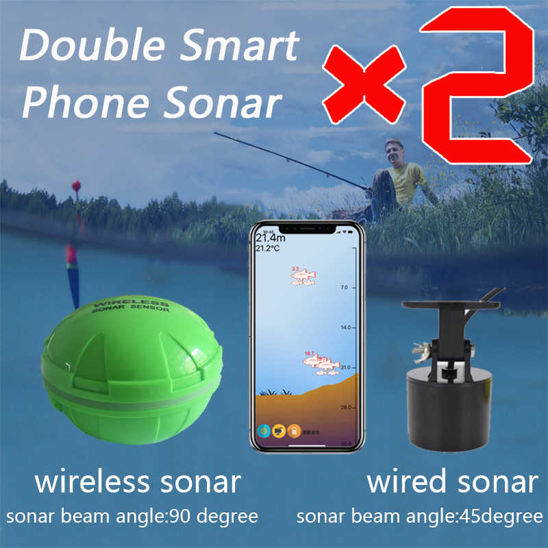 Brand New Smart Telefoon Sonar Sensor Bluetooth Intelligente Vis Finder Android & Ios Vis Visual Vissen Gratis Verzending
