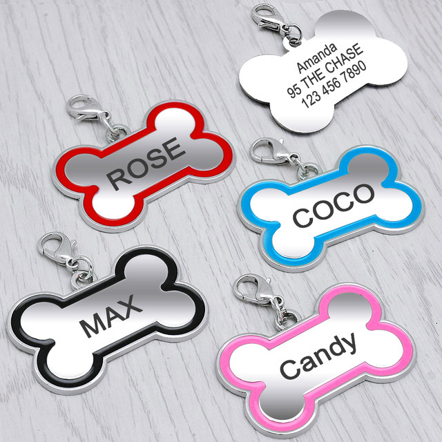 online shop bone shape custom dog name tag personalized engraved pet