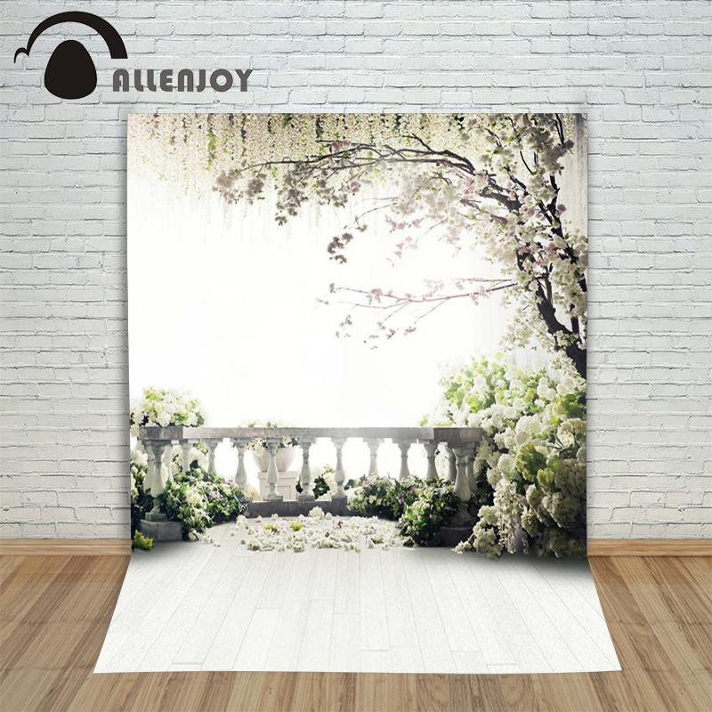 Prix pour 300x200 cm (6.5ftx10ft) Fleurs Photo Fond arbres livraison jardin loft de mariage Photographie décors Studio Pour Intérieur Photos