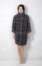 2015 winter woman fashion real mink fur X LONG real mink coat 1030 IRIS