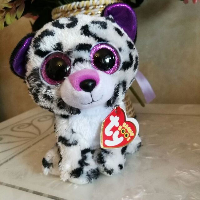 1pc 15cm Ty Beanie Boos Violet Leopard Plush Toy Stuffed Animal Soft