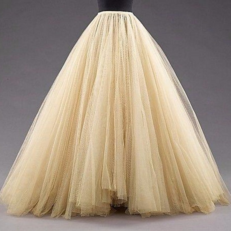 Tulle Enaguas piso longitud Mulitilayer vestido de fiesta Enagua - Accesorios de boda