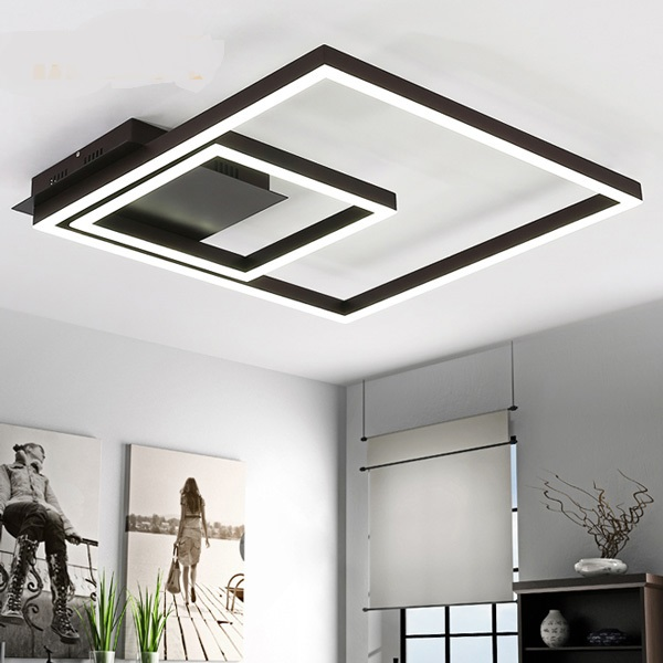 Rectangular LED Ceiling Light Atmosphere Living Room Bedroom Dance Room Clothing Store Single layer double layer lamps ZA