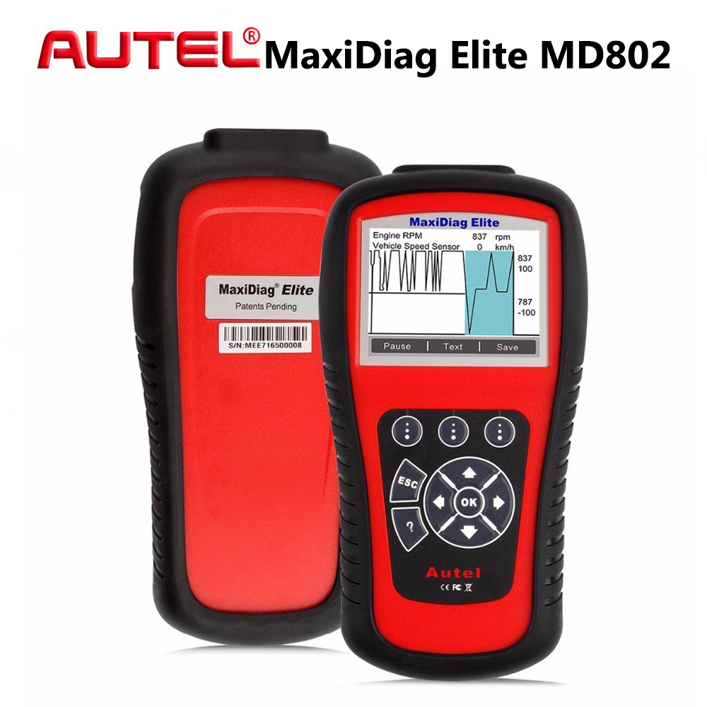 [Autel Distributor] Autel MD802 MaxiDiag Elite Scan Tool Full System Engine Transmission ABS & Airbag All System Diagnostic Tool[Autel Distributor] Autel MD802 MaxiDiag Elite Scan Tool Full System Engine Transmission ABS & Airbag All System Diagnostic Tool