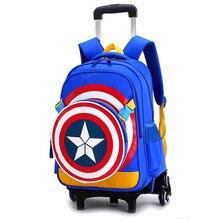 กระเป๋าเดินทางสำหรับเด็กรถเข็นโรงเรียนกระเป๋าเป้สะพายหลัง WHEELED กระเป๋าสำหรับโรงเรียนรถเข็นกระเป๋าล้อโรงเรียน Rolling กระเป๋าเป้สะพายหลัง