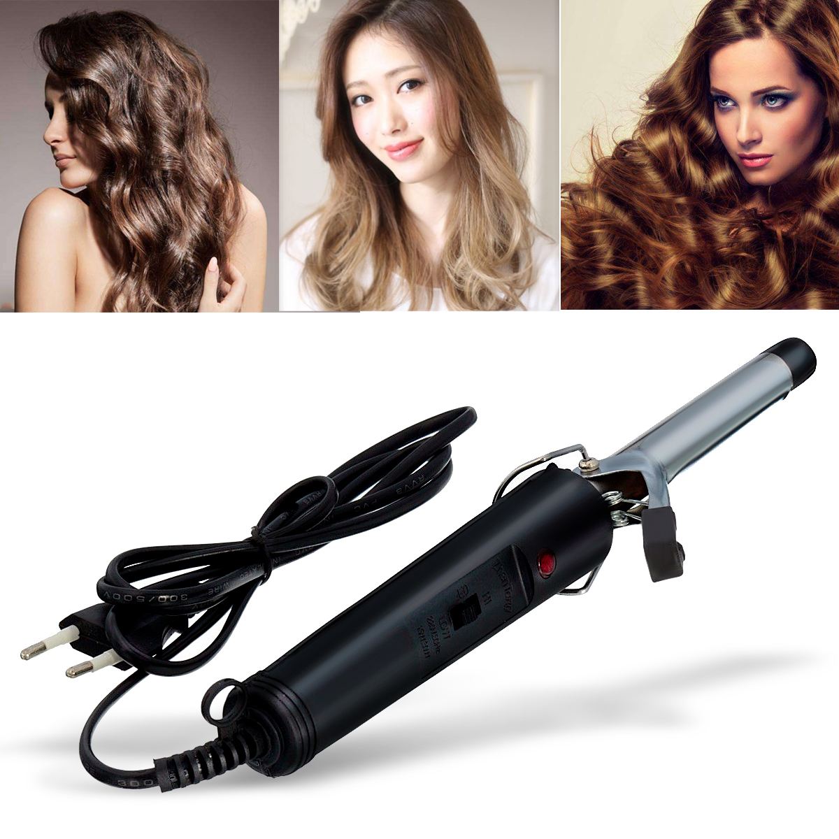 New High Quality Professional Useful Hair Salon Volume Curl Curling Iron Hair Curler Waver Maker Home Travel
