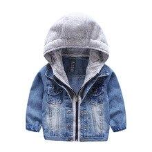 2017 Baby Bebe Boys Kids Toddler Children Denim Cowboy Hoodie Coat Outwear Costume Clothes 3-7 Years Hoodies Clothing Wholesale