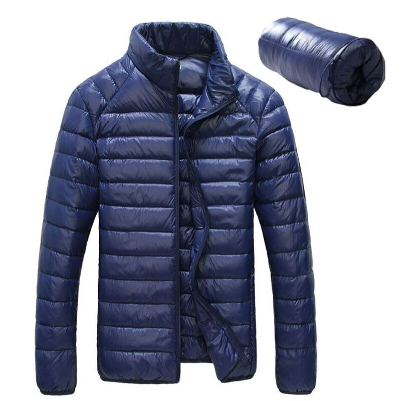 Brand Men <font><b>Jackets</b></font> Solid Breathable Winter Duck Down <font><b>jacket</b></font> Mens Outdoors Coat Lightweiht Parka size M to 3XL jaqueta masculina